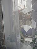 Панельні шторки білі квіти до підлоги, фото 4