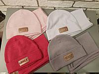 Стильный модный комплект шапка и снуд для девочки