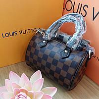 Сумка Люкс-реплика Louis Vuitton Speedy Micro,коричневая клетка, фото 1