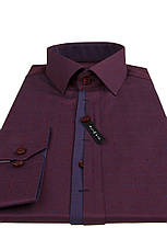 Рубашка мужская BORDO бордовая с узором, фото 3