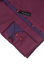 Рубашка мужская BORDO бордовая с узором, фото 2
