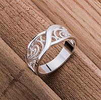 Кольцо женское покрытие серебро р 17