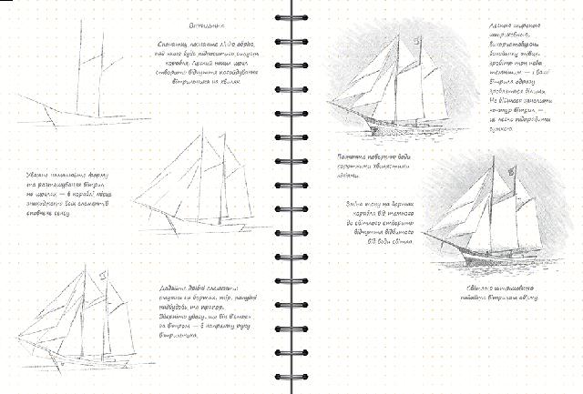 Скетчбук уроки малювання експрес курс Малюємо море fe82b114bfb89
