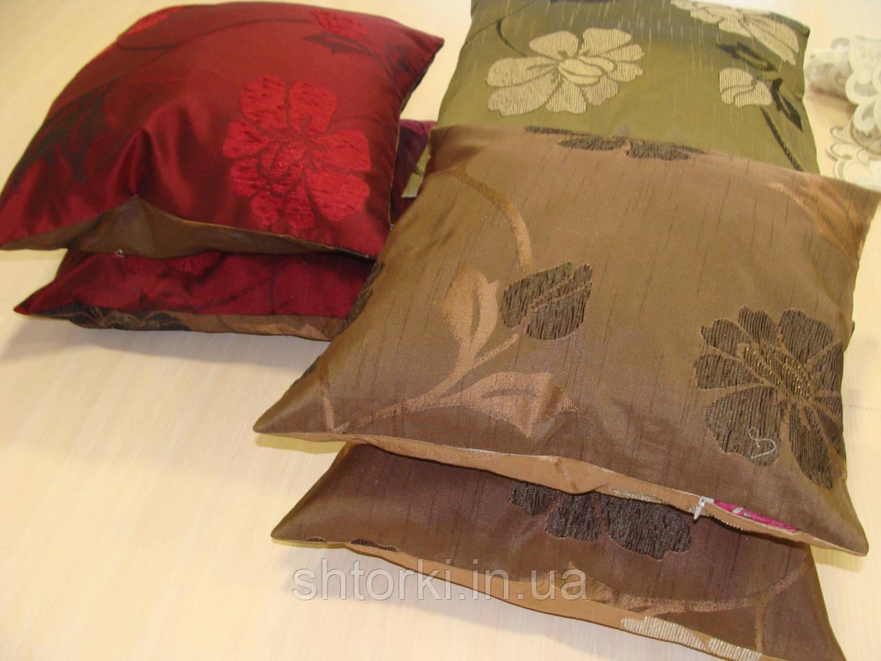 Комплект подушек цветы двусторонние 2шт