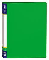 Папка А4 с 2 кольцами Economix пластик Е30701 в ассорт. Зеленый