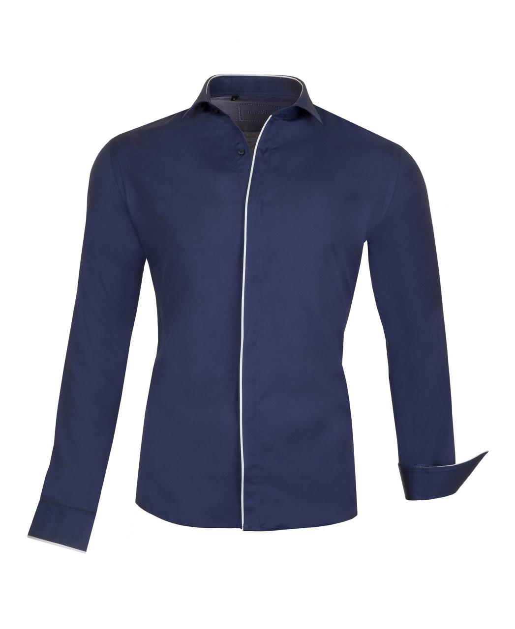 Рубашка Lui синяя
