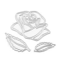 Rose Шаблон Set Scrapbook DIY Альбомная бумага Paper Craft Maker Металлические штампы Режущие трафареты