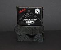 Rangnar - Black Rock Мыло Угольное для Бороды и усов (Чёрная скала) 100г
