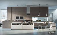 Кухня в стиле лофт без ручек и бетонным фасадом IRIDE фабрика AR-TRE (Италия)