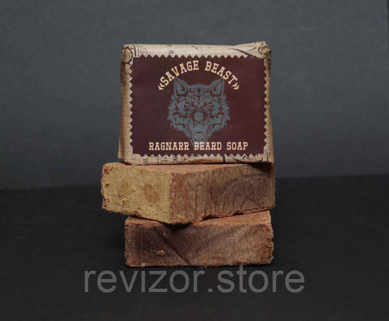 Savage Beast Мыло соляное для Бороды и Усов (Свирепый Зверь) - Ragnarr 100г, фото 1