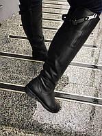 Зимние сапоги сзади ремешок несъёмный. Натур. кожа, мех по всех длине. Высота 45 см. Р-р 36-40 чёрные.
