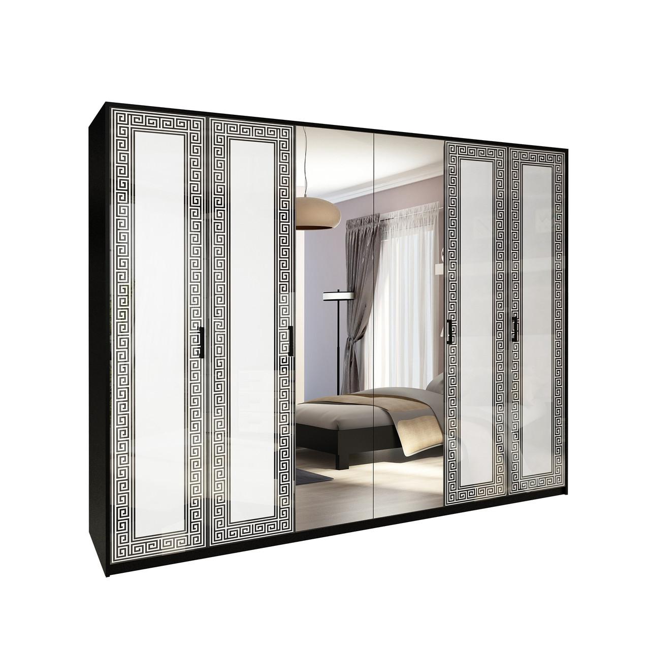 Шафа (шкаф) з ДСП/МДФ в спальню/вітальню/дитячу білий Віола 6Д Миро-Марк