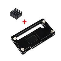 Черный акрил Чехол+Алюминиевый радиатор для Raspberry Pi Zero W/V1.3