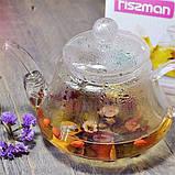 Чайник для заваривания Fissman LUCKY 0.8 л (Боросиликатное стекло, стальной фильтр), фото 3