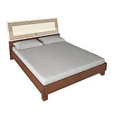 Ліжко з ДСП/МДФ в спальню Віола 1,6х2,0 підйомне з каркасом ваніль Миро-Марк