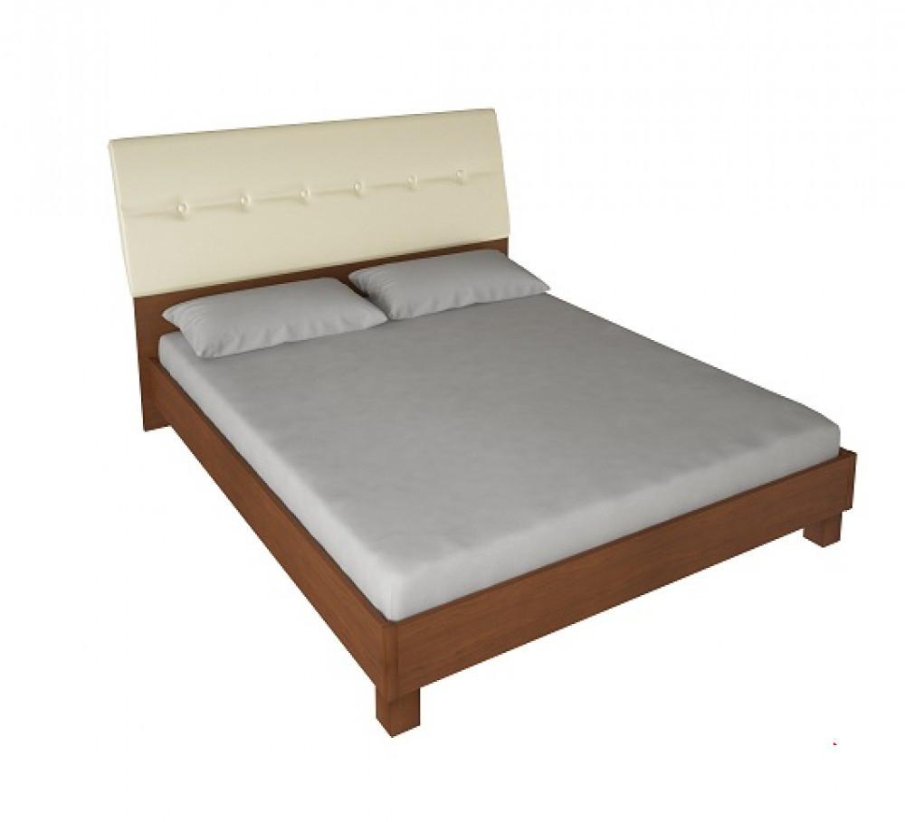 Ліжко з ДСП/МДФ в спальню Віола 1,6х2,0 підйомне м'яка спинка з каркасом Миро-Марк