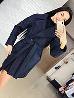"""Женское демисезонное кашемировое пальто с поясом """"Ляля"""". ТКань: кашемир. Размер: 42,44,46,48,50."""