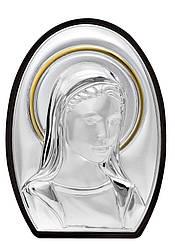 """Икона """"Фатимская Божья Матерь""""  в серебряном окладе 7,5X12,5см"""
