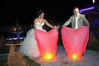 Свадебный небесный фонарик. СЕРДЦЕ.  90 см
