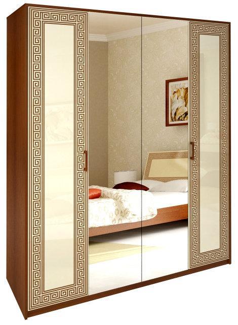 Шафа (шкаф) з ДСП/МДФ в спальню/вітальню/дитячу ваніль Віола 4Д Миро-Марк