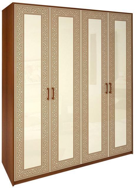 Шафа (шкаф) з ДСП/МДФ в спальню/вітальню/дитячу ваніль Віола 4Д без дзеркал Миро-Марк