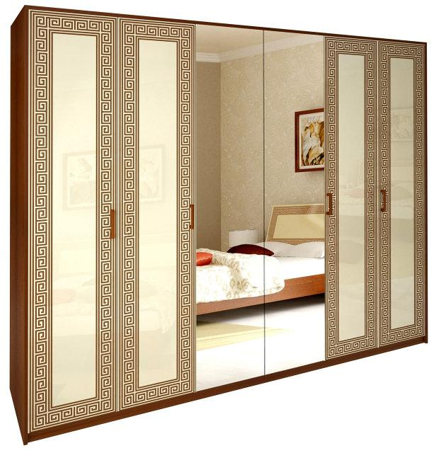 Шафа (шкаф) з ДСП/МДФ в спальню/вітальню/дитячу ваніль Віола 6Д Миро-Марк