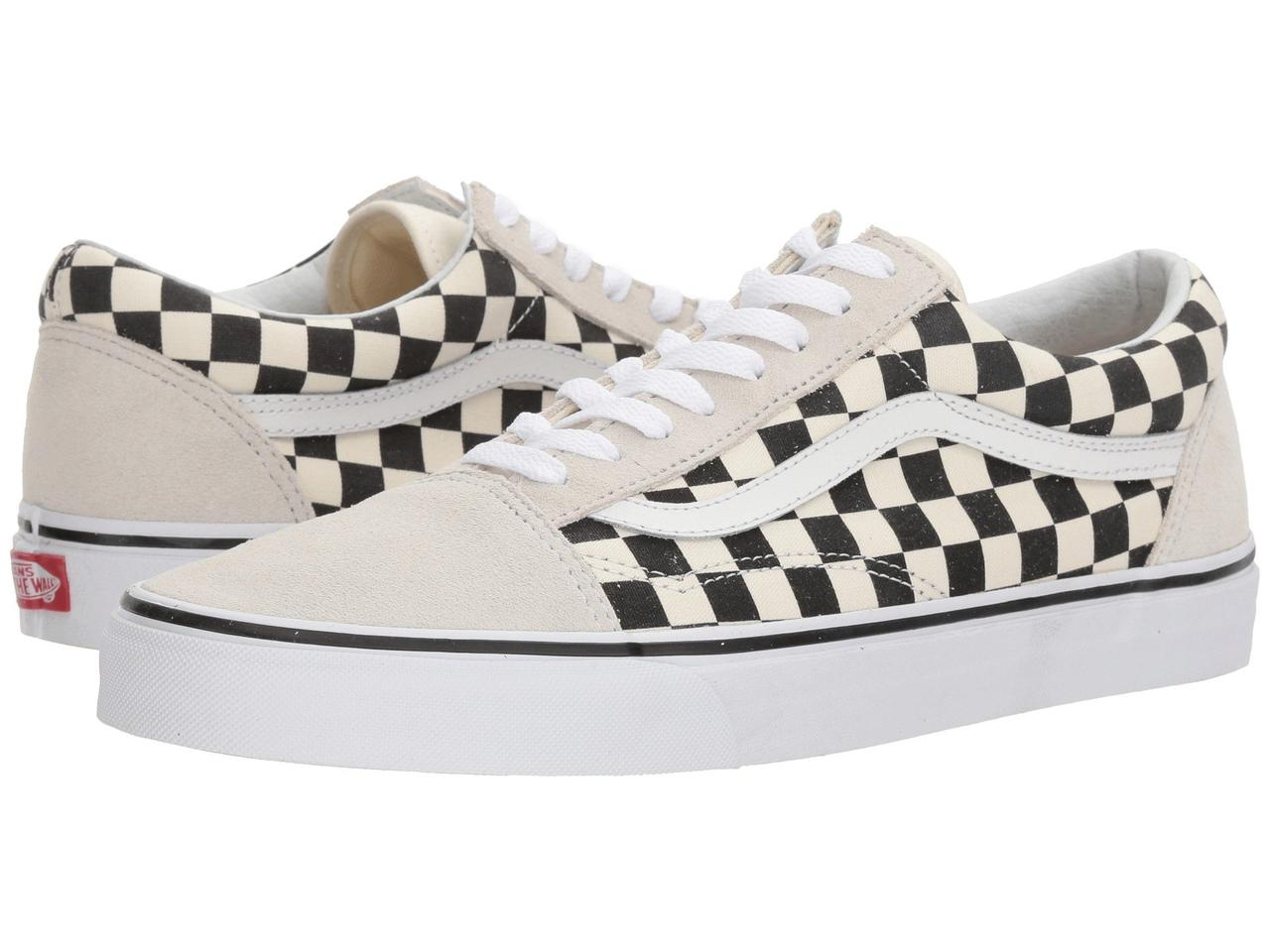 Кроссовки Кеды (Оригинал) Vans Old Skool™ (Checkerboard) White Black ... c64e72f3065