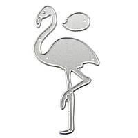 Flamingo Bird Шаблон Scrapbook DIY Альбомная бумага Paper Craft Maker Металлические штампы Режущие трафареты 4.2x8cm