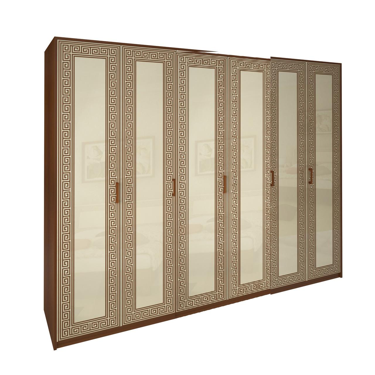 Шафа (шкаф) з ДСП/МДФ в спальню/вітальню/дитячу ваніль Віола 6Д без дзеркал Миро-Марк