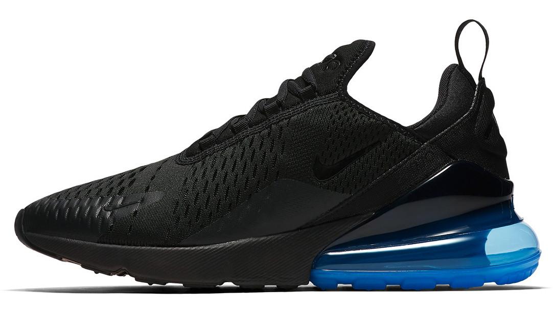 Мужские кроссовки Nike Air Max 270 (Найк Аир Макс) черно-синие