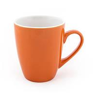 Чашка Fiona 340 мл керамическая, оранжевая, белая внутри, от 10 шт