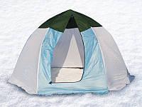 Палатка зимняя для зимней рыбалки на алюминиевом каркасе СТЭК ELITE  3х местная