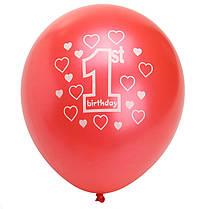 10закомплектРозовыйДевушка1-го дня рождения Печатные перламутровые шары Новогоднее украшение, фото 2