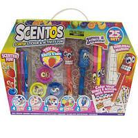 Ароматный набор для творчества - ВЕСЕЛЫЕ ФРУКТЫ (ручки, маркеры, наклейки, масса для лепки) ТМ Scentos 42096