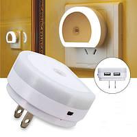Интеллектуальное управление освещением Датчик LED Ночной настенный светильник с портом USB AC110-240V