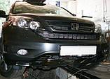 Декоративно-защитная сетка радиатора HONDA CRV фальшрадиаторная решетка,бампер, фото 2