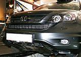 Декоративно-защитная сетка радиатора HONDA CRV фальшрадиаторная решетка,бампер, фото 3