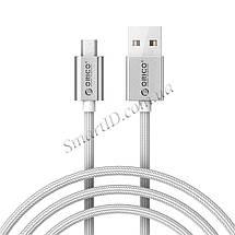 Кабель Micro USB Orico EDC-10 для зарядки и передачи данных (Серебристый, 1м), фото 3