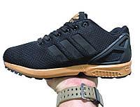 Женские кроссовки Adidas zx flux black metallic топ реплика