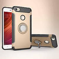 Чехол для Redmi Note 5A Pro, бампер с подставкой для телефона, цвет золото