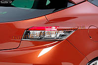 Накладки на задний фонари для Renault Megane 3 2009-2015
