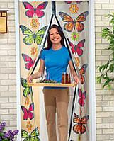 """Антимоскитная сетка Magic Mesh на дверь с рисунком """"Бабочки"""""""