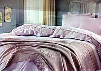 Набор постельного белья Gelin Home YAPRAK Пудра евро 220x240