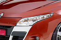 Накладки на фары (реснички на фары) для Renault Megane 3 2009-2012