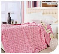 Плед ARYA акрил FLUTTO розовый 160x220