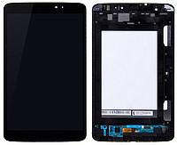 Дисплей (экран) для планшета LG V500 G Pad 8.3 с сенсором (тачскрином) и рамкой черный Оригинал