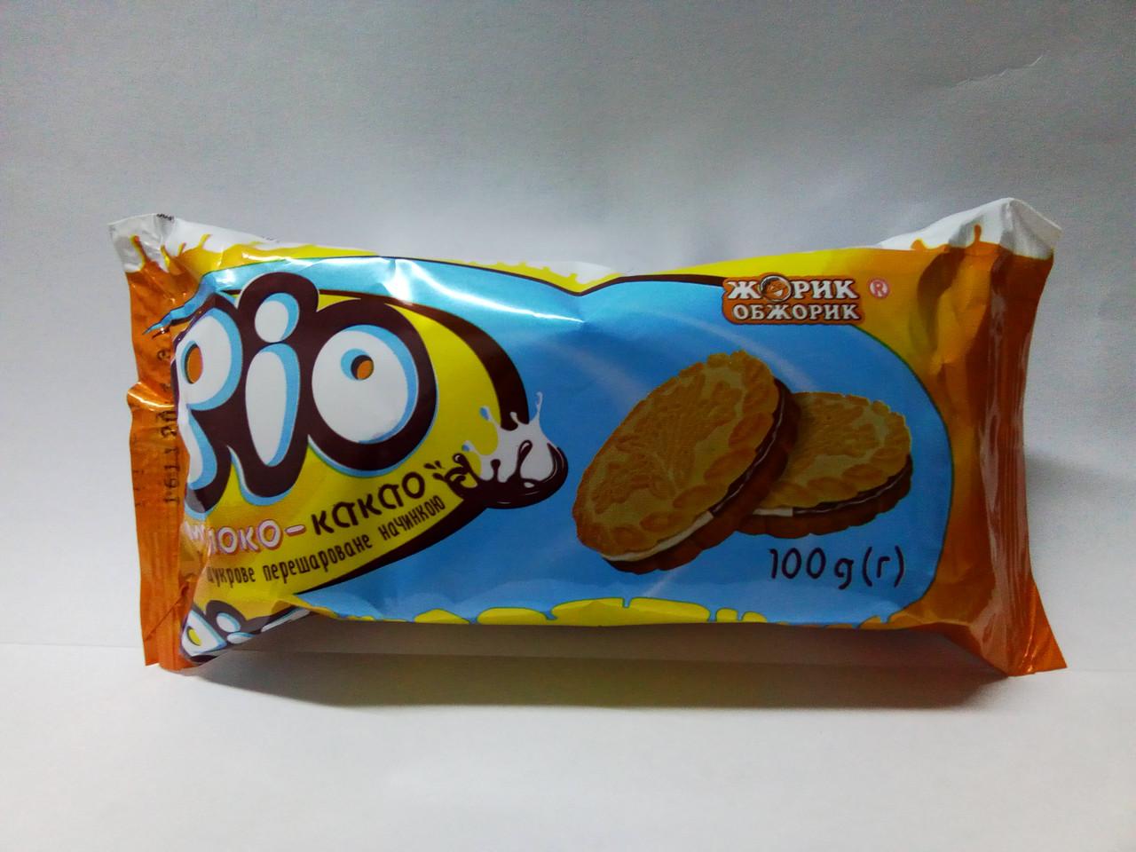 """Печенье Рио молоко-какао 100г """"Жорик Обжорик"""""""