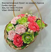 """Яркие розы из конфет raffaello""""Цветочный Рай""""№15"""