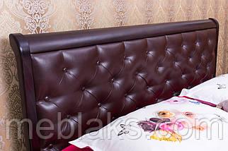 """Кровать деревянная """"Ассоль"""" мягкое изголовье, с подъемным механизмом (серия Мария)  Микс Мебель, фото 2"""