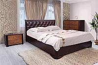 """Кровать деревянная """"Ассоль"""" мягкое изголовье, с подъемным механизмом (серия Мария)  Микс Мебель"""